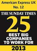 AMEX Sunday Times Best Big Companies 2013