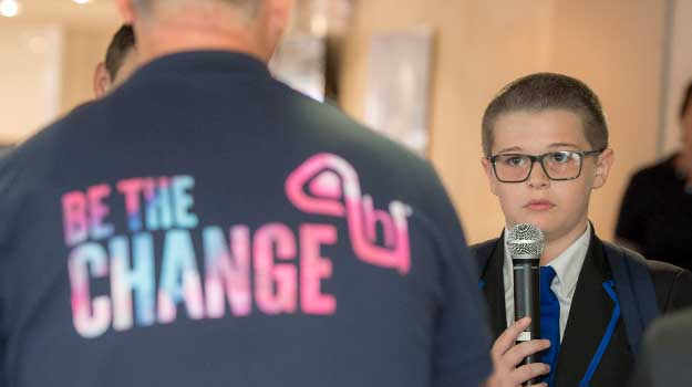 Youngsters' emotional stories inspire business leaders to support Be the Change